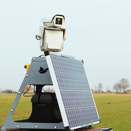 Autonomic met zonnepaneel accessoire en frame